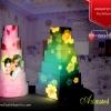 پخش تصاویر یکپارچه با تکنولوژی پرتاب نور 3D mapping با کیفیت تصویر فول HD