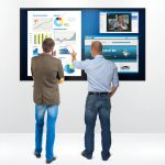 تابلو اعلانات لمسی تعاملی یکپارچه