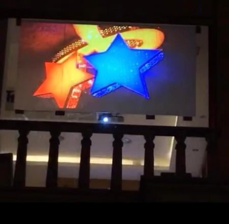 تجهیز مجموعه قوچ به نمایشگر نانو در شهر آمل به واسطه فویل بک پروجکشن یا rear film projection